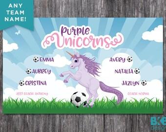 Custom Vinyl Soccer Banner, Soccer Banner, Football Banner, Team Banner, Soccer Mascot, Soccer Logo, Football Logo
