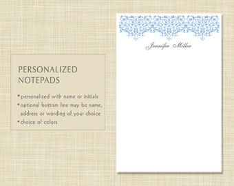 Personalized Notepad - Damask