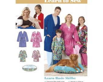 Simplicity Sewing Pattern 1946, Unisex Robe, Mens Robe Pattern, Childs Robe Pattern, Dog Bed Pattern, New Uncut