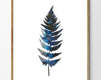 Fern no.1 - Floral Art, Botanical Art, Fern Art, Fern Painting, Home Decor, Watercolor Fern, Wall Art