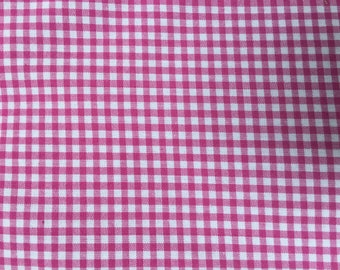 100% Cotton Pink & White Gingham