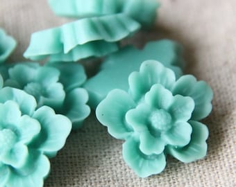 12 pcs of sakura flower cabochon-22mm-rc0166-27-light blue