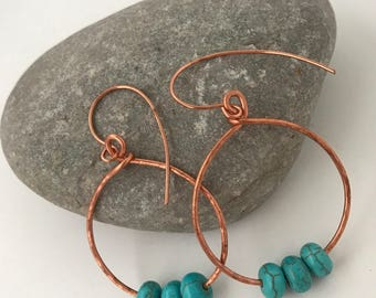 Bette Hoops and beads earrings