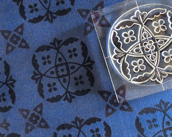 English Garden - Clear Stamp Set - Repeating Patterns - Medieval Theme - Textile Block Printing