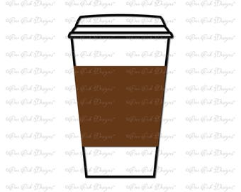 Coffee Cup SVG File svg dxf png pdf jpg for Cricut Cameo and other electronic cutting machines