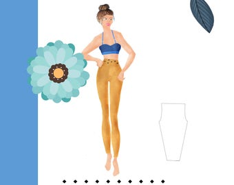Womens Leggings Pattern - Easy to Sew - PDF Pattern - XS- XXL