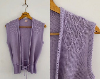 Vintage 80's Lilac Pastel Sweater S