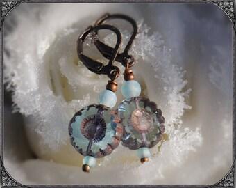 Earrings JanuarKristall copper