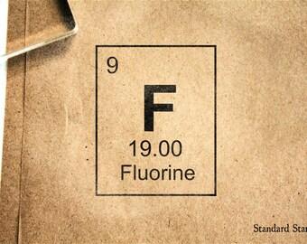 Fluorine etsy fluorine periodic table rubber stamp 2 x 2 inches urtaz Gallery