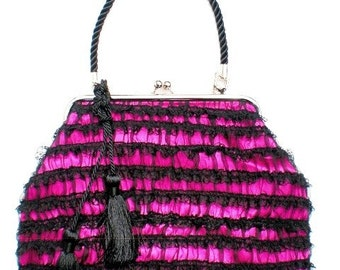 Couture Vintage Jet Set inspired Handbag. Handmade in the USA- Between The Sheets