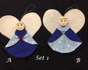 Set of 2 Angel Ornaments