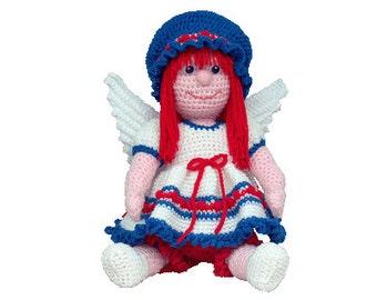PDF Amigurumi Pattern Angel - Crochet Angel Pattern - Angel 16 inch All Yarn June Angel - (7306) Td creations