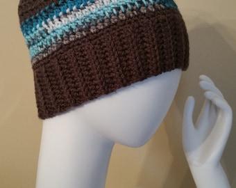 Messy Bun Hat, Bun Beanie, Ponytail Hat, Crochet Bun Hat, Crochet Ponytail Hat, Crochet Hat