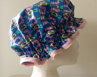 Shower Cap. Handmade PVC & BPA Free. Laminated Cotton. Eco - Friendly. Girls And Adult Sizes. Gift For Her. Bath Gift