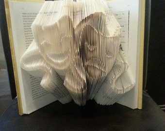 Theatrical Masks Book folding pattern