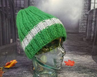 Green hat. All yarn is Icelandic wool