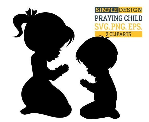 Praying Child SVG Christian SVG Religious SVG Praying Svg