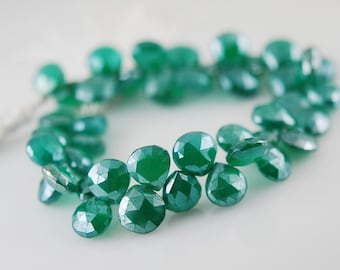 1/2 strand green onyx hearts WHOLESALE PRICE 22.00