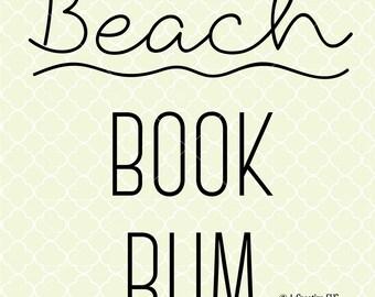 Beach Book Bum SVG DXF Files for Cricut Design, Silhouette studio, Beach Lover