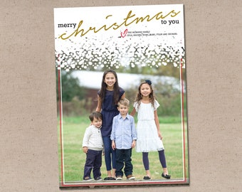Snowed In: Holiday Photo Card