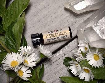 Natural Perfume SOLSTICE Organic Fragrance Spearmint Juniper 3.7ml // 1 dram Stocking Stuffer