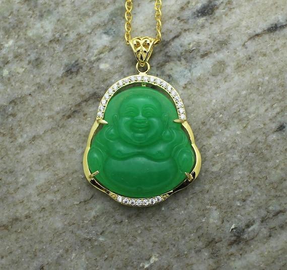 Big green laughing buddha jade pendant necklace j5kvo dmci realty big green laughing buddha jade pendant necklace j5kvo aloadofball Gallery