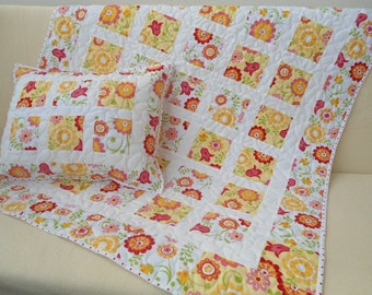 Patchworkdecke, girl quilt + Pillow