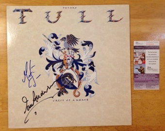 Signed JETHRO TULL Ian Anderson Martin Barre LP jsa autographed