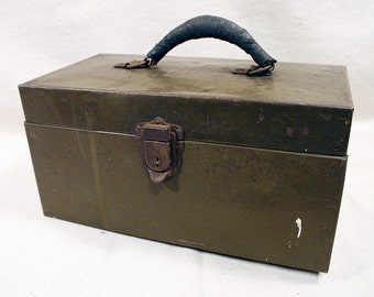 Vintage Kennedy Kits Toolbox With Removable Trays