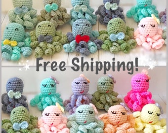 Crochet octopus for babies| Crochet Octopus| Octopus Plush| Preemie octopus| Octopus for preemie| NICU octopus| Stuffed octopus|Octopus toy
