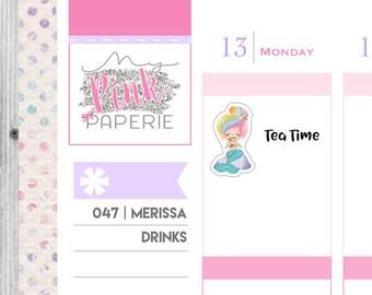 047 | Merissa Drinks | Mermaid Stickers