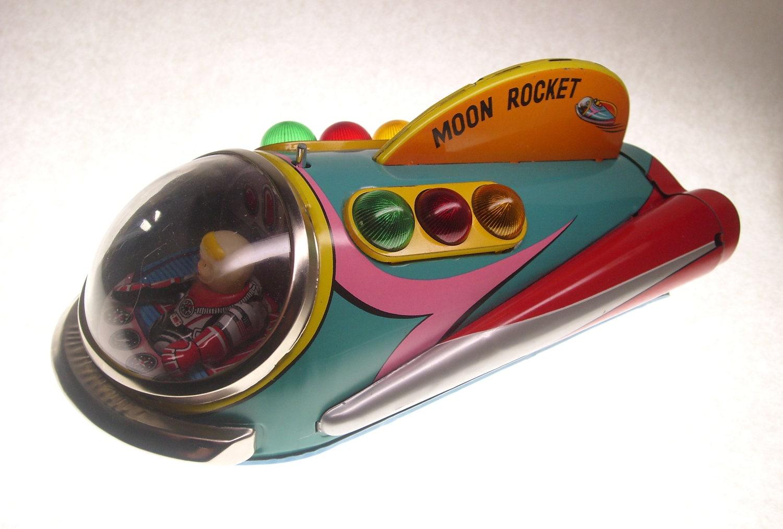 Vintage Moon Rocket Modern Toys Japan 1960's