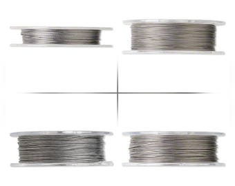 Clear Tigertail beading wire 7 strands, 7 strands Tigertail beading wire nylon-coated stainless steel Clear 100 ft (33.3yards) spool.