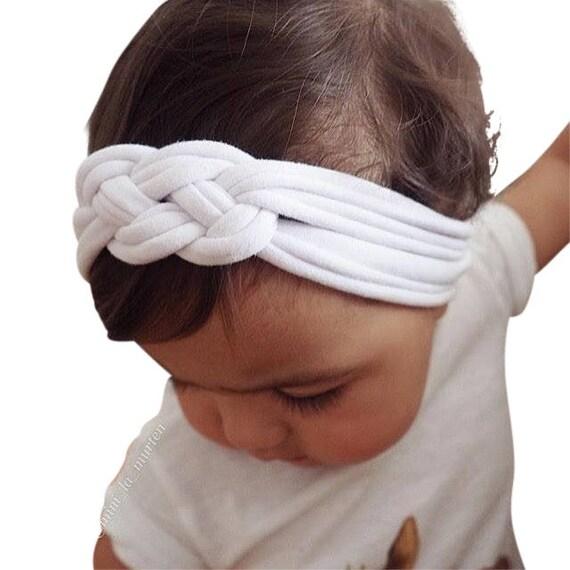 Knot Baby Headband, Baby White Headband, Knot Headband, Baby Headwrap, Newborn Headband, White headwrap, Infant Headband, Toddler Headband