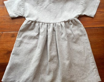 Prairie Dress - Gray Linen