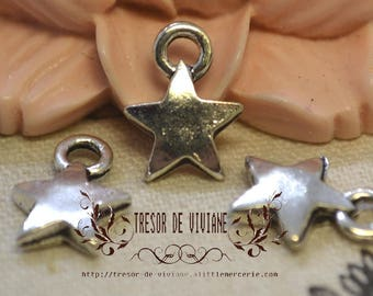 set of 15 YDZ003 pendant, silver stars