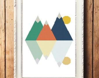 Mountains III Cross Stitch Pattern (Digital Download)