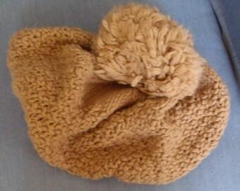 Crochet Tobaggon in Gold-FREE SH