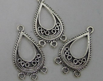 25off bohemian chandelier connector filigree floral earring link 15pcs chandelier earring connectors 15x26mm antique silver triangle earring components earring charms charms hoop earring findings mozeypictures Images