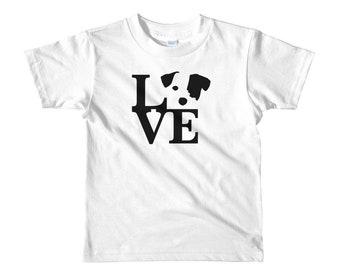 Jack Russell Terrier, Dog Love, Short sleeve kids t-shirt