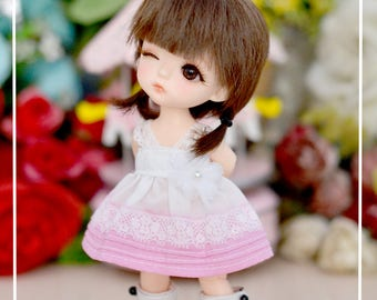 Dip Dye Dress for Lati Yellow/Pukifee/T-Line/Tiny Delf (1/8 BJD)