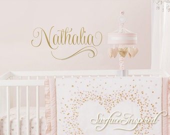 Wall Decals Personalized Names Nursery Wall Decal Kids Wall Decal Wall Decal Quote Wall Decals For Girls or Boys Nathalia Style