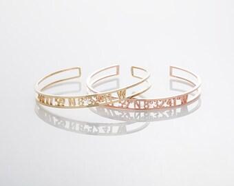 Coordinates Bracelet, Cut out Coordinates Cuff Bracelet, Latitude Longitude Jewelry, Personalized Bangle,Couples bracelets,Location Bracelet