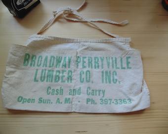 Broadway Perryville Lumber vintage nail apron Newton Iowa