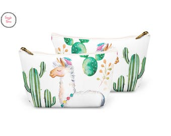 Llama cosmetic Bag, Wash bag, Zipper Pouch, Large makeup bag, large wash bag, cosmetic bag, makeup bag, Handmade, FrazzleFlorrie, Gift pouch