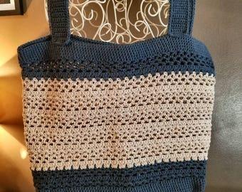 Crochet Beach/Tote Bag