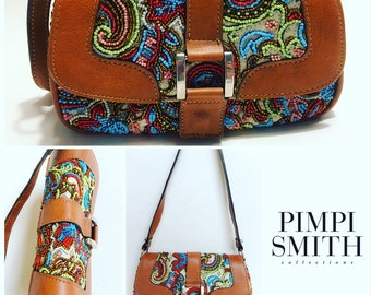 Baguette bag embroidered with beads. Pimpi Smith