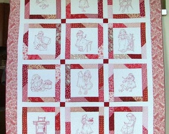 Sewing Girl Lap Quilt