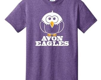 Heather Purple Avon Eagles T-Shirt - XS