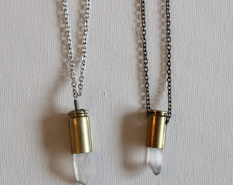 Quartz Bullet Necklace (short)